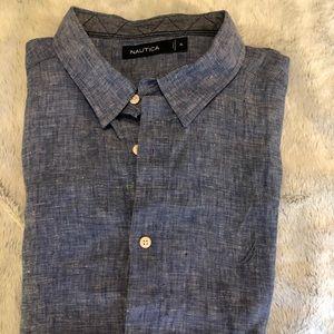 New Nautica XL button up, collar shirt .